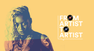 "Learn more about the listen to berlin: Awards host Achan Malonda at ""From Artist To Artist podcast"""